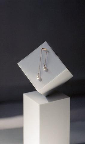 Twin Earrings with Potato Pearls