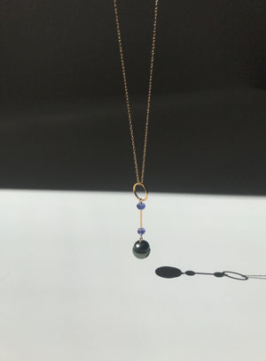 Sphere Necklace with Tanzanites