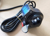 Electric Bike Thumb Throttle 12-84v LED Display Voltmeter & ON OFF Kill Switch
