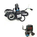 Electric Bike Scooter Thumb Throttle 12-100v LED Display Voltmeter & Key Lock