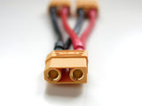 XT90 Parallel Adapter 2 Male to 1 Female Lipo Battery Converter Connector Wire