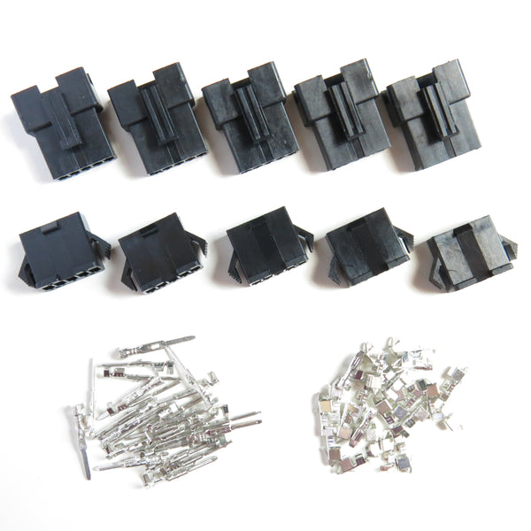 5 Pair JST-SM 5-Pin Plug Terminal Connector 5 Male + 5 Female 2.5mm Pitch