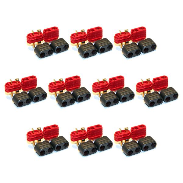 10 Pair Amass Deans T-Plug Connectors 10 Male + 10 Female RC Plane Car Battery