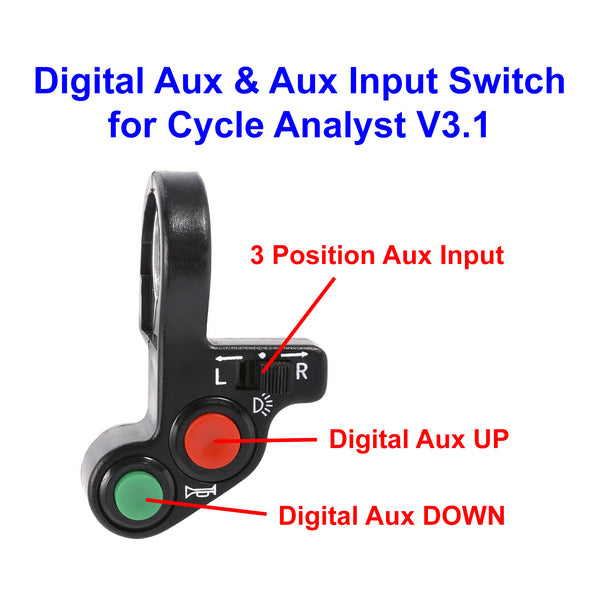 2 Button Digital Aux Input & 3 Position Aux Input Switch for Cycle Analyst V3.1