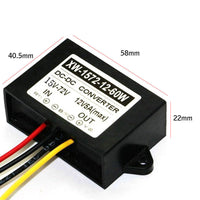 DC-DC Step Down Buck Converter (15-72v) 24V 36V 48V 60V to 12V 5A 60W Output