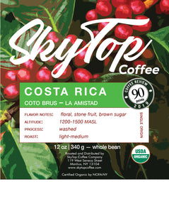 COSTA RICA **90 Rating from Coffee Review**