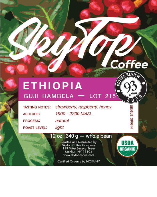 ETHIOPIA - GUJI 1 NATURAL HAMBELA LOT 215 **93 Rating from Coffee Review**