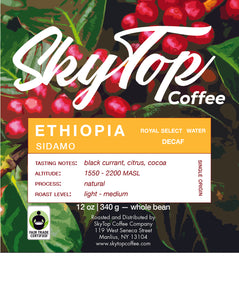 ETHIOPIA - Natural Sidamo - Royal Select Water - DECAF
