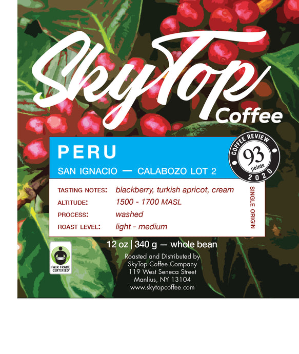 PERU - CALABOZO LOT 2 **93 Rating from Coffee Review**
