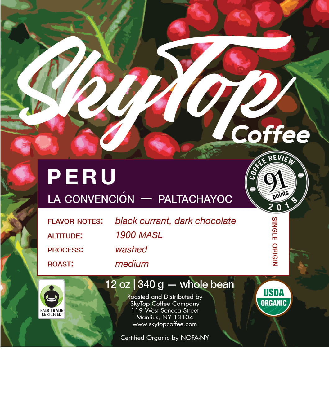 PERU-Paltachayoc **91 Rating from Coffee Review**