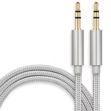 Load image into Gallery viewer, 3.5mm Stereo Audio Cable Extension Male to Male Nylon Braided 10ft/3m Zerist Tangle-Free AUX Cable for Headphones, iPods, iPhones, iPads, Home/Car Stereos and More