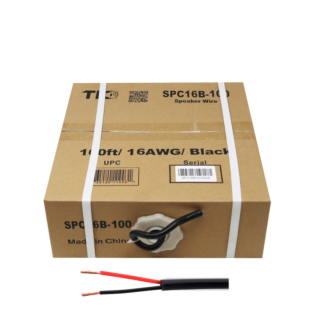 16 AWG Outdoor Speaker 100 Feet Wire Rated for Outdoor Direct Burial and in-Wall Installation Speaker Cable Oxygen Free Copper UL CL3