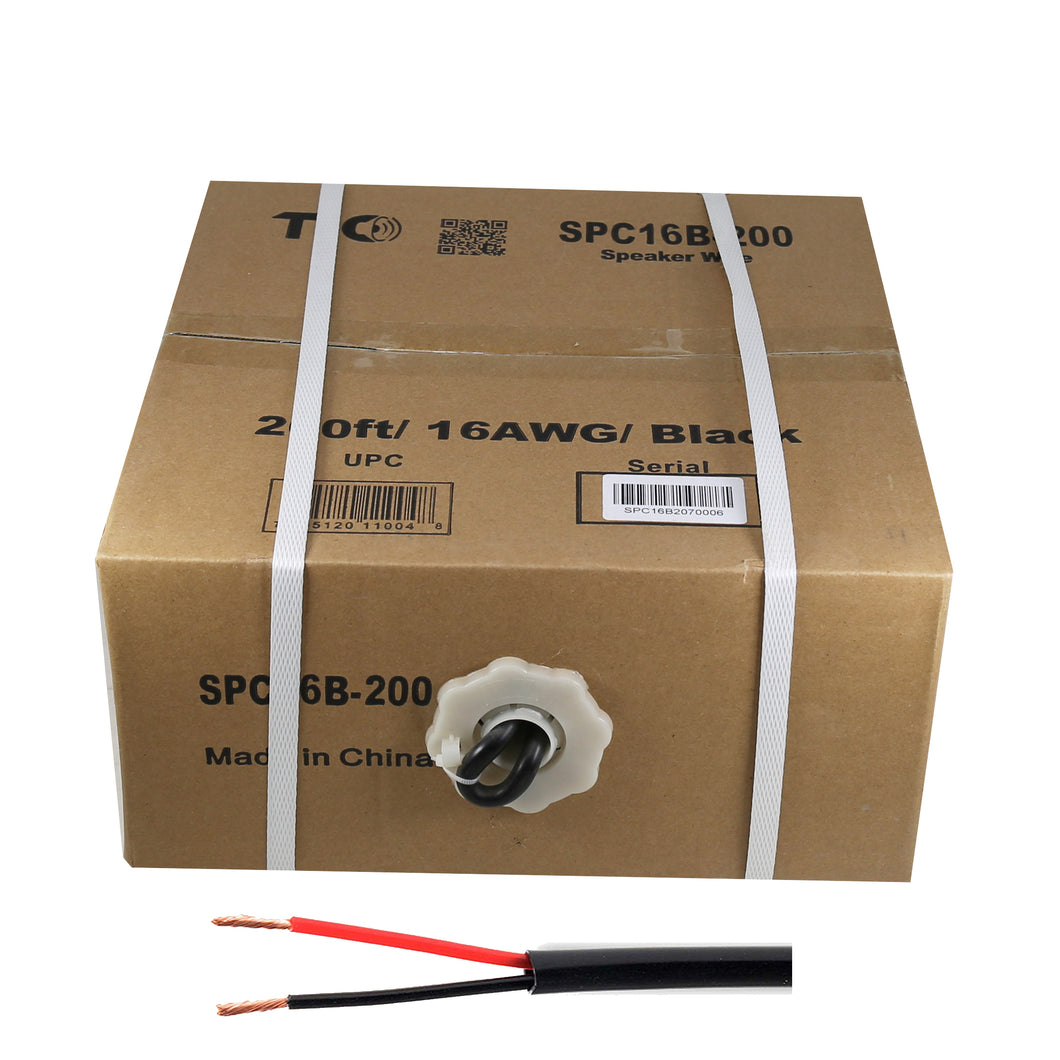 16 AWG Outdoor Speaker 200 Feet Wire Rated for Outdoor Direct Burial and in-Wall Installation Speaker Cable Oxygen Free Copper UL CL3