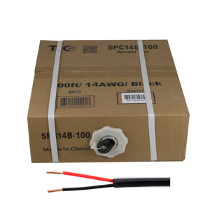 SPC14B-100  14AWG Outdoor Speaker 100 Feet Wire Rated for Outdoor Direct Burial and in-Wall Installation Speaker Cable Oxygen Free Copper UL CL3