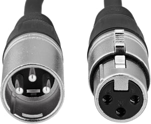 2XLR-01 XLR Male to Female Microphone Cable - 3 Feet