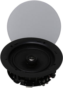 MC8O26 6'' Ceiling Speakers W/Magnetic Grill(Pair) Perfect for Damp and Humid Indoor/Outdoor Placement - Bath, Kitchen, Covered Porches. 6.5 inch 8Ω / 2 Pair (Magnetic Grill)
