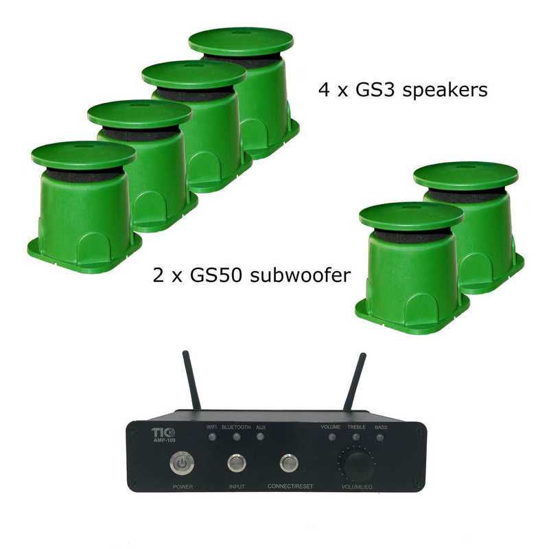 AMP100 & 4 x GS3 & 2 x GS50 Bundle