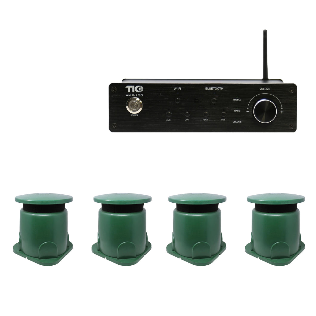 AMP150 Wifi(AirPlay2)&Bluetooth5.0 2*100W Amplifier With 4PCS GS3