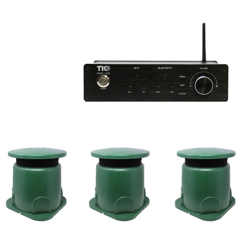AMP150 Wifi(AirPlay2)&Bluetooth5.0 2*100W Amplifier With GS50 + 2PCS GS3