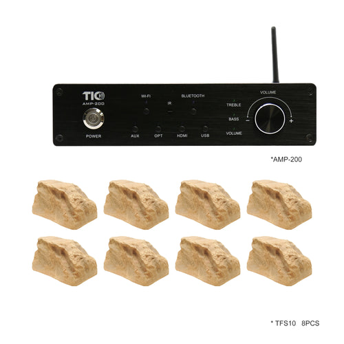 AMP200 Wifi(AirPlay2)&Bluetooth5.0 4*100W Multi-Room Amplifier With 8PCS TFS10