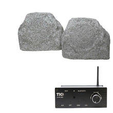 "Load image into Gallery viewer, AMP88 Wifi(AirPlay2)&Bluetooth5.0 2*50w Multi-Room Amplifier With TFS5 6.5"" Outdoor Weather-Resistant Rock Speakers (Pair)"