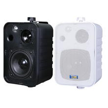 "Load image into Gallery viewer, ASP25 - 4.25"" 3-Way Outdoor Weather-Resistant Patio Speakers (Pair)"