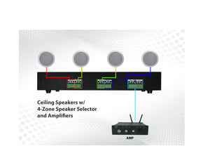 AMP50&V804&4*8ohm Ceiling Speakers
