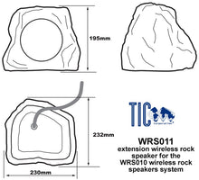 Load image into Gallery viewer, WRS011 - Wireless Extension Rock Speaker