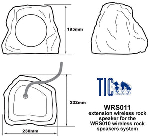 WRS011 - Wireless Extension Rock Speaker