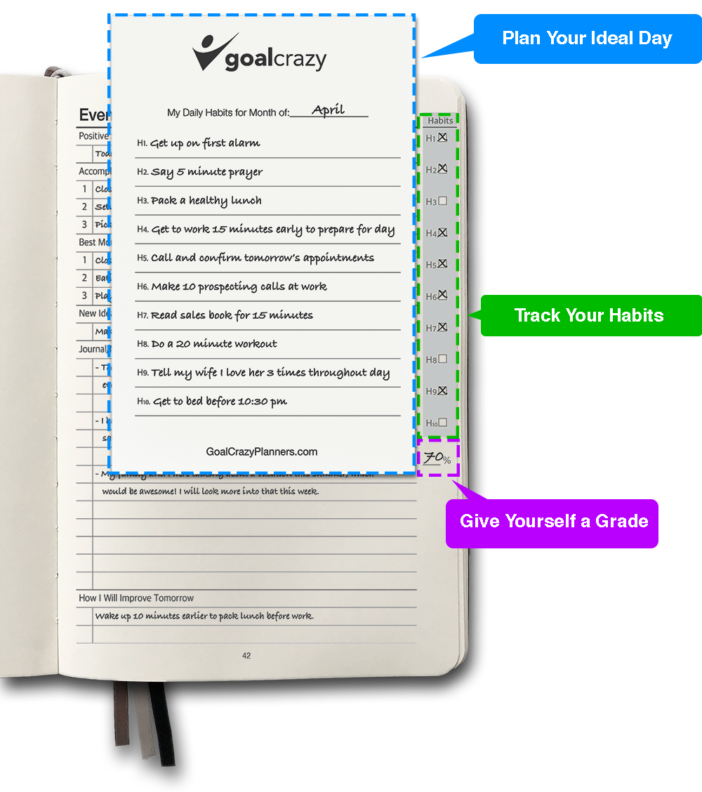 Goal Crazy Planner & Journal | Achieve Your Goals | Be More