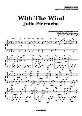 with the wind julia pietrucha nuty piano pdf akordy chords
