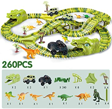Dinosaur Railway Track with 1 Dino & 2 Adventure Cars