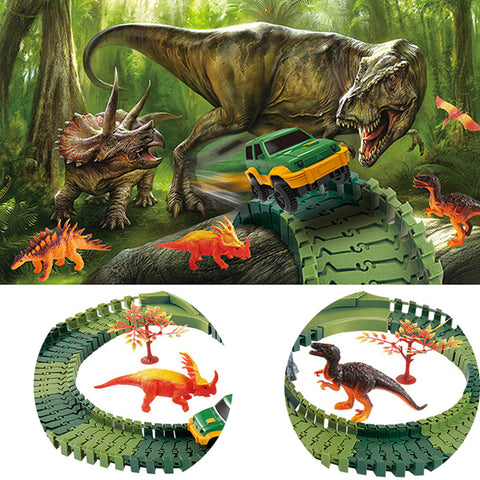 Dino Land Railway Racing Track with Play Mat