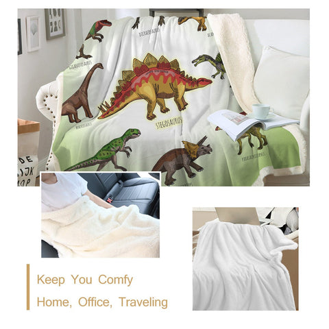 Dino Throw Blanket