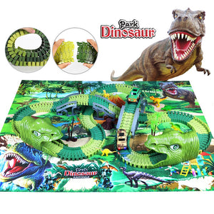 Dino Land Railway Track Set with Play Mat