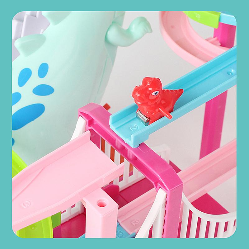 Musical Dinosaur Climbing Stairs Racing toy