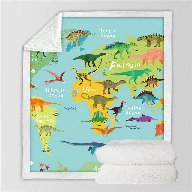Dinosaur Throw Blanket