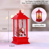 Santa Claus Snowman Light Merry Christmas Decor