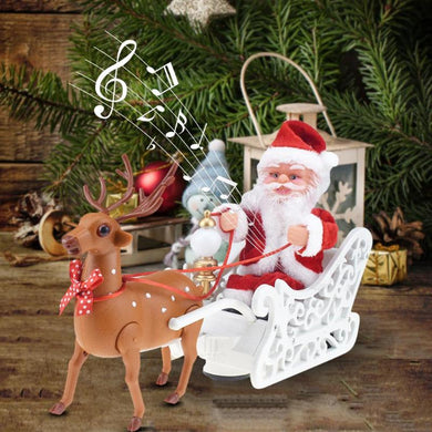 Santa Claus Doll Elk Sled Electric Toy