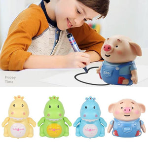 Lined Induction Pig Dinosaur Toy