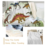 Dinosaur Sherpa Throw Blanket