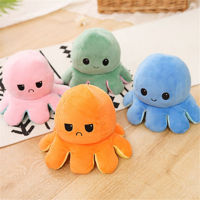 Reversible Flip Octopus Stuffed Plush
