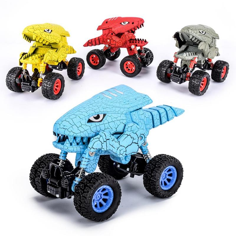 Dino Monster Pull Back Car Truck (Pack of 2)
