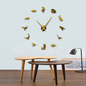Dinosaur Frame Less Wall Clock