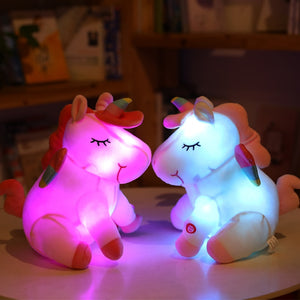 Cute Unicorn Pony LED Plush Light