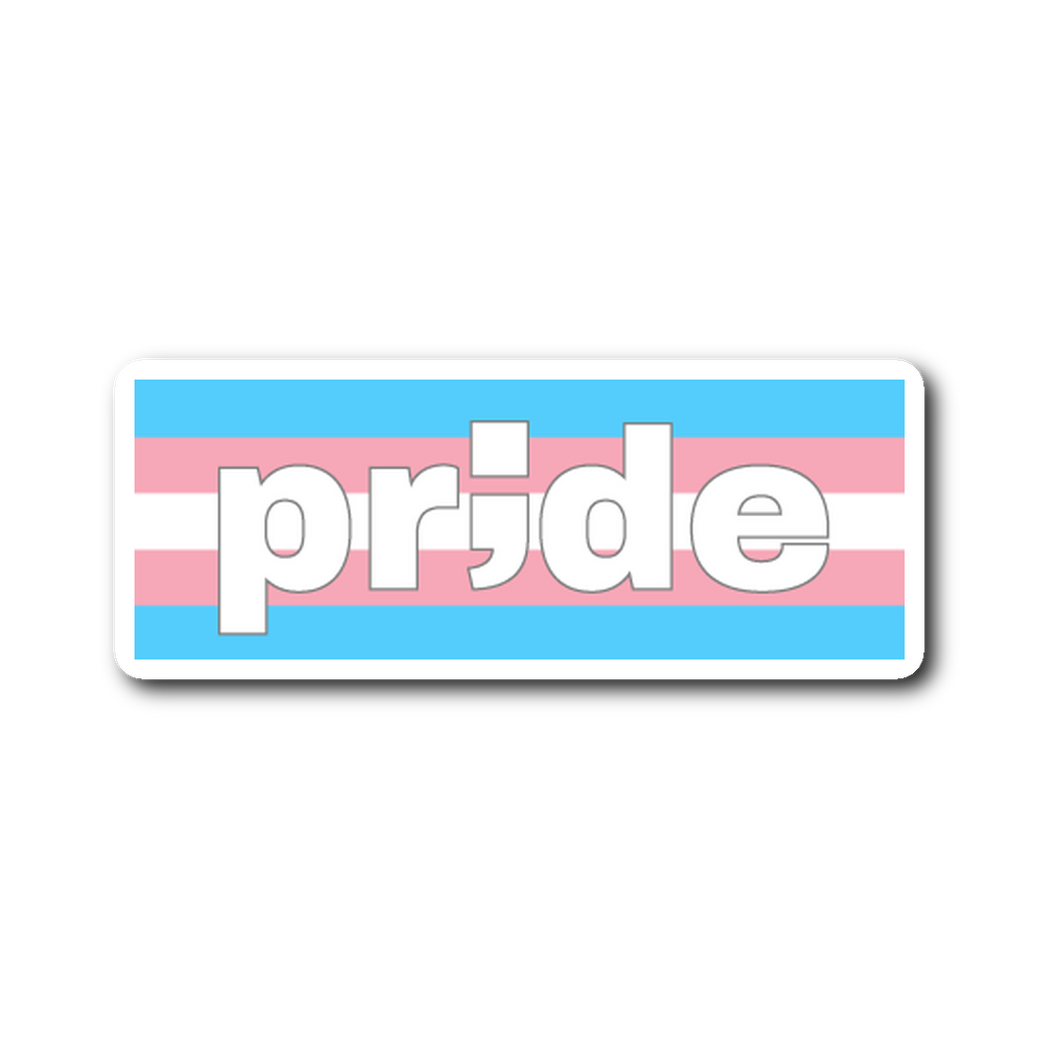trans pride ; die-cut sticker