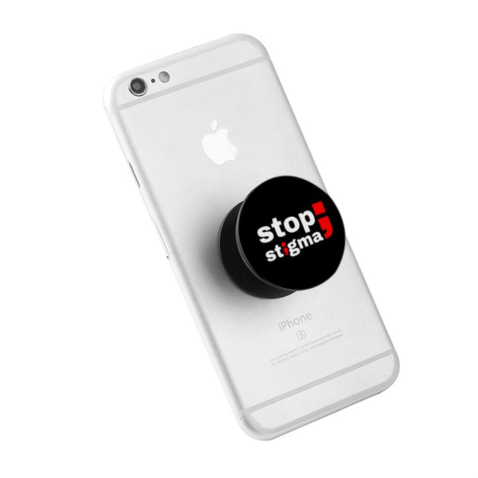stop stigma ; Black Collapsible Grip & Stand for Phones and Tablets