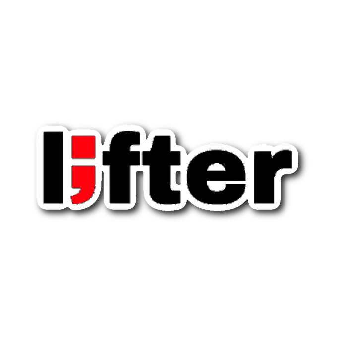 lifter ; die-cut sticker