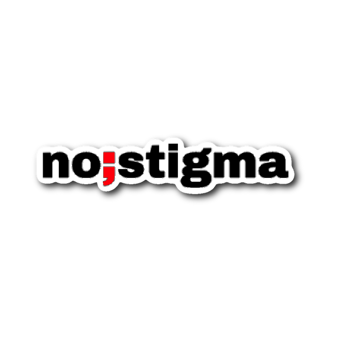 no stigma ; die-cut sticker