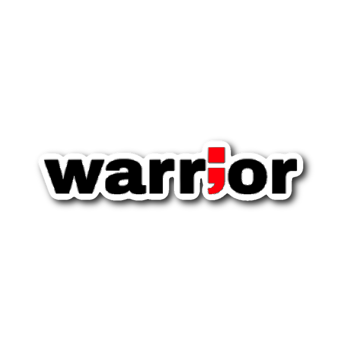 warrior ; die-cut sticker